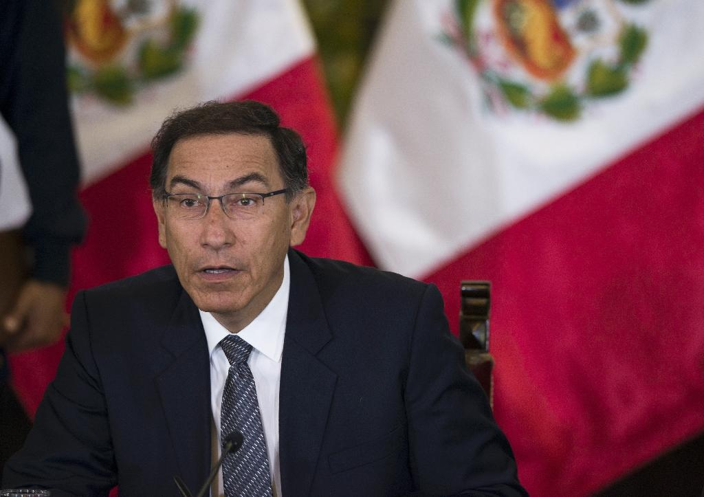 """Peruvian President Martin Vizcarra announced plans for a referendum to """"legitimize"""" proposed judicial reforms, following a scandal over crooked judges"""