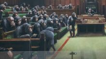 Banksy painting depicting MPs as chimpanzees sells for record £9.9m at auction