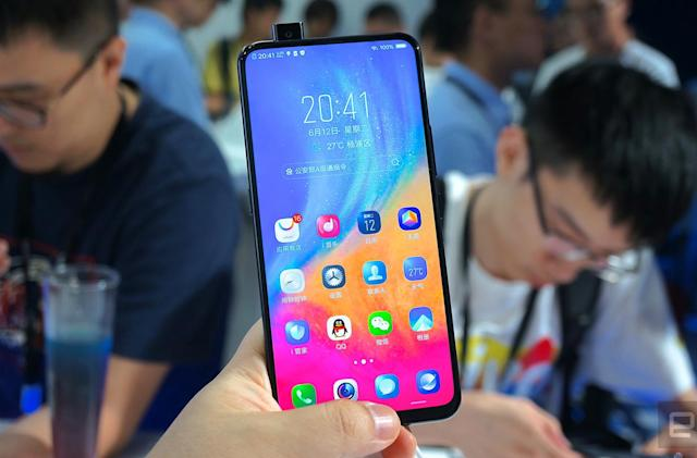 Vivo's Nex is a true all-screen phone with a pop-out selfie camera