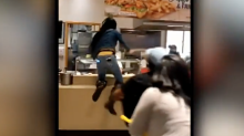 Video shows group of women allegedly trying to attack food court employees after their credit card was declined