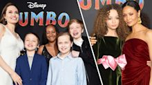 Angelina Jolie and youngest children join Thandie Newton and lookalike daughter at 'Dumbo' premiere