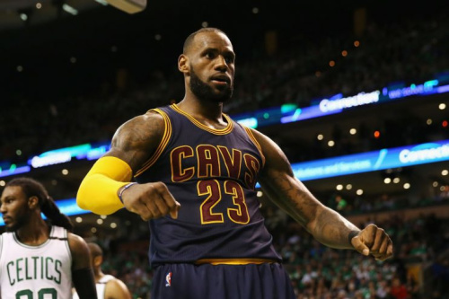 LeBron James and the Cleveland Cavaliers flexed their muscle again in Boston. (AP)