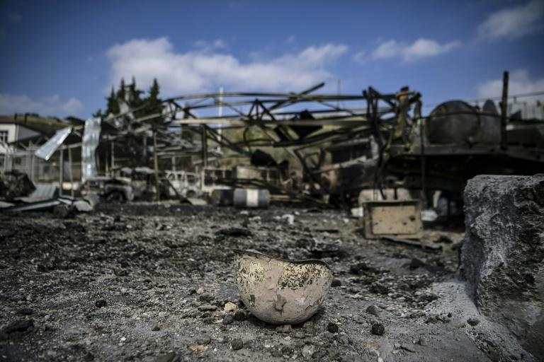 A hospital of Martakert region was in ruins a day after shelling during the ongoing fighting
