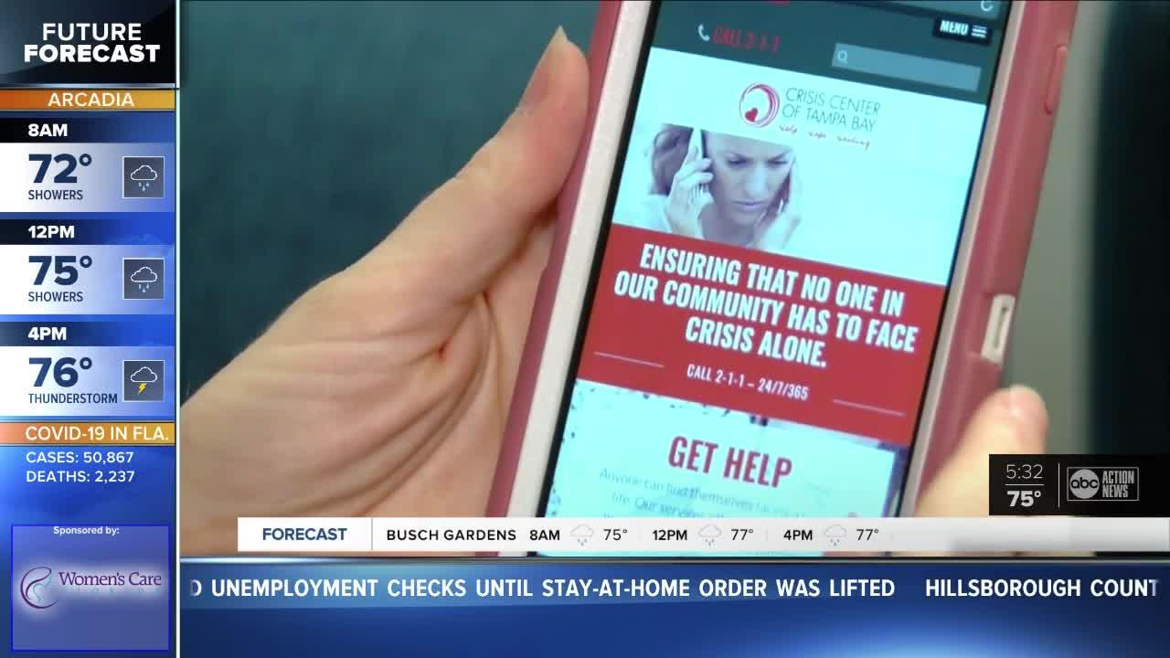 Crisis Center helping people cope with COVID-19 stress Video
