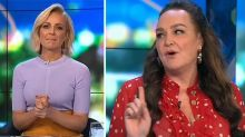The Project's Carrie Bickmore and Kate Langbroek share tense moment