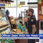 Aurora Police Department Checking Out Photo Of Officer Not Wearing Mask Inside Shop