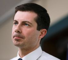 Pete Buttigieg: Outrage over anti-gay protestors dressed as 2020 candidate 'whipping Jesus on a cross'