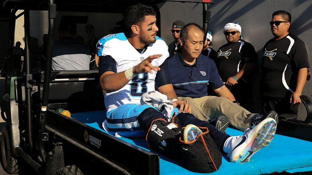 Marcus Mariota injury update: Titans QB feeling 'a lot better,' hopes to play in Week 6