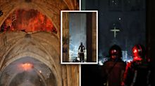 First images emerge from inside Notre Dame after devastating fire