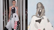 The sneaky political message in Michelle Obama's portrait dress