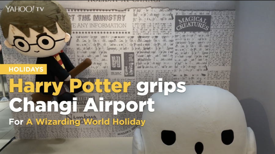 Harry Potter grips Changi Airport