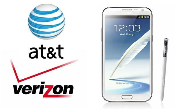 Verizon, AT&T put Samsung's Galaxy Note II on pre-sale for $300 with a two-year contract