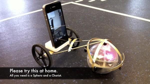 iPhone-controlled Sphero ball gets a chariot for roving FaceTime sessions, office races