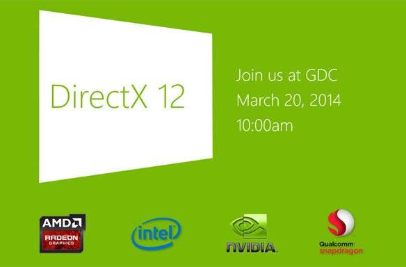 Microsoft teases DirectX 12 reveal for GDC, rumors pit it against AMD's Mantle