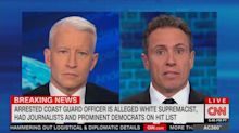 Chris Cuomo concerned about his family after showing up on Coast Guard officer's hit list