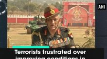 Terrorists frustrated over improving conditions in Kashmir valley: Army Chief