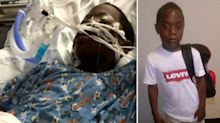 Mother furious after bystander films son, 8, who caught on fire while others watch and don't help