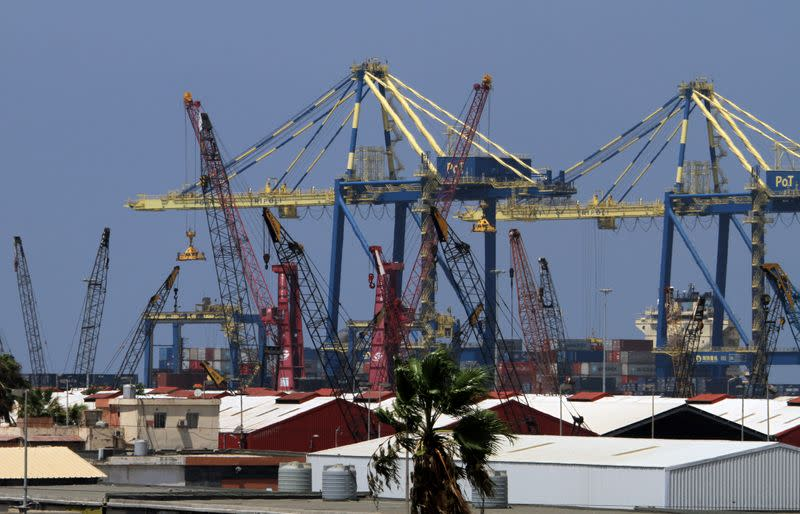 A view of the port of Tripoli