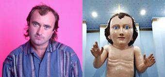Does this statue of baby Jesus look like Phil Collins?