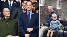 Prince William's unseen photo of Prince Philip with Prince George