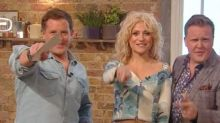 Watch Pixie Lott perform an Omelette Challenge rap