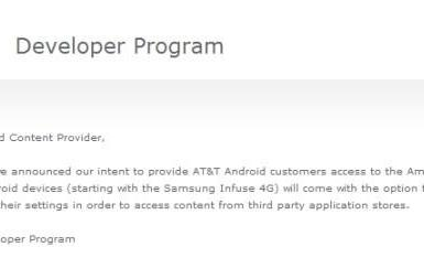AT&T sideloading officially a go, designed to allow Amazon Appstore downloads (update)