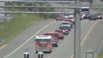 Firefighters Honor Fallen Comrade