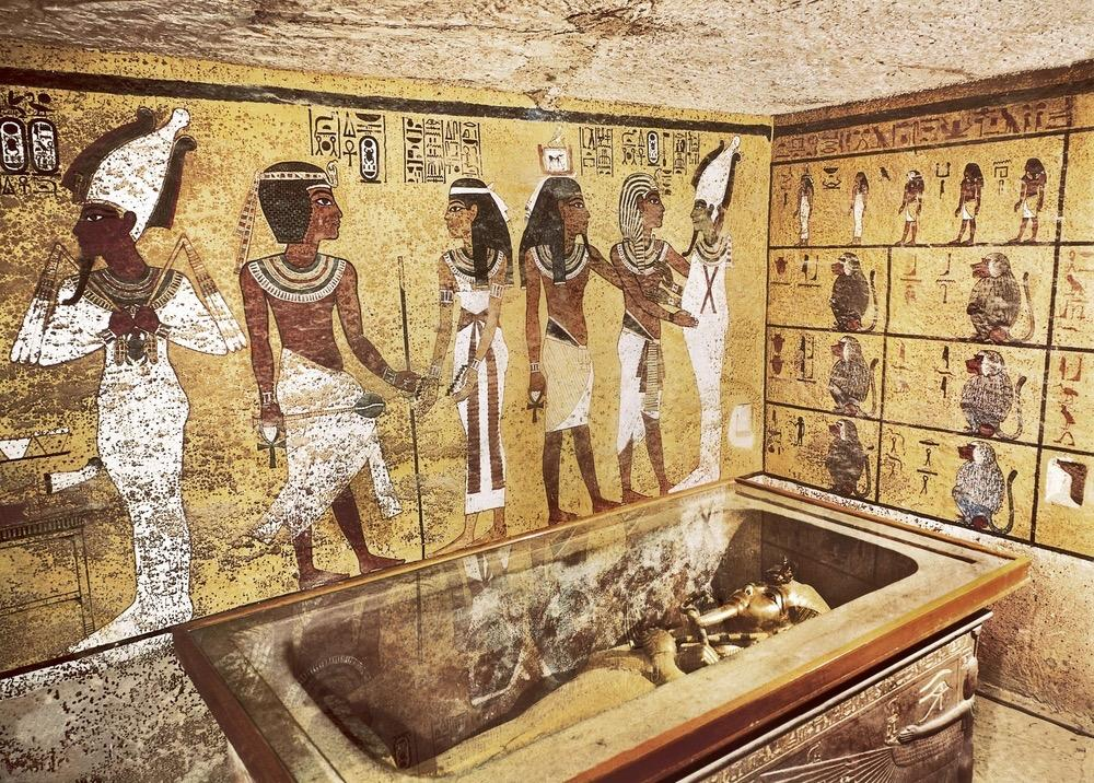 New radar scans showed no evidence of hidden chambers within King Tut's tomb (shown here), located in Egypt's Valley of the Kings.