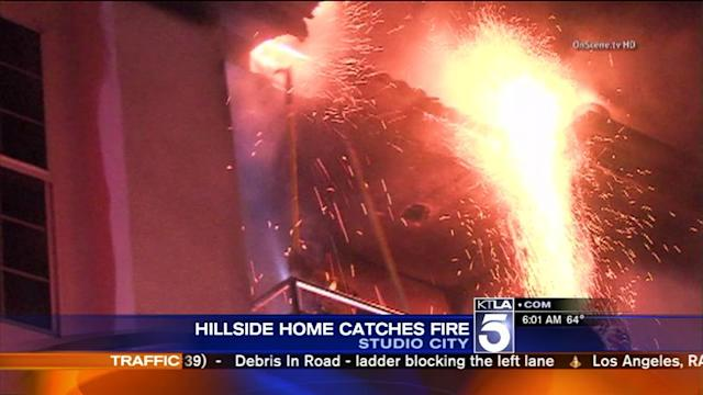 Studio City House Fire Causes $600,000 Worth of Damages