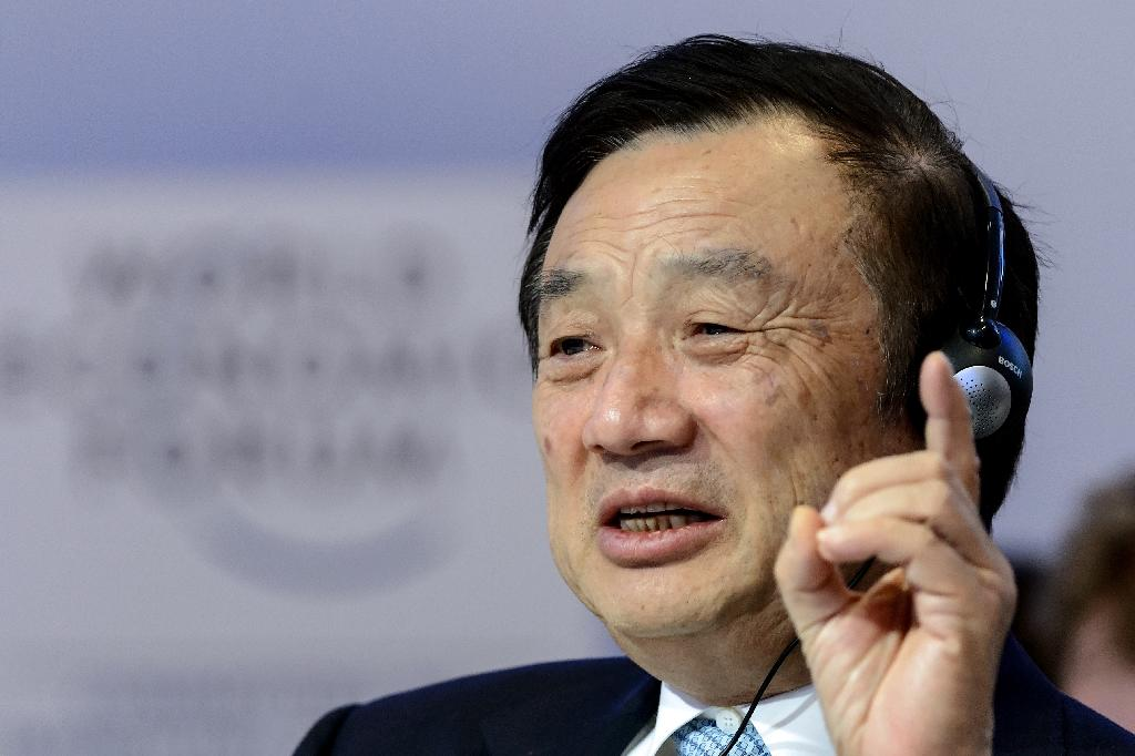 A former Chinese army technician, Ren Zhengfei founded Huawei in 1987 with only $5,000, according to company lore (AFP Photo/Fabrice COFFRINI)