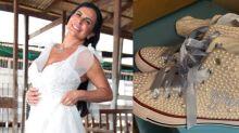 """Gretchen se casa com tênis customizado de R$ 380: """"Tendência entre as noivas"""""""