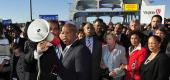 Rep. John Lewis on March 4, 2012, on Edmund Pettus Bridge in Selma, Ala. (AP)
