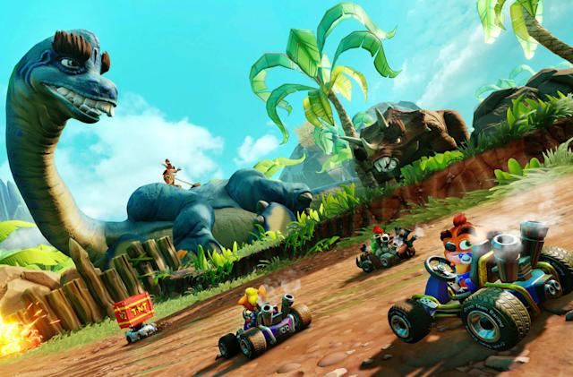 'Crash Team Racing Nitro-Fueled' gets a dinosaur-themed grand prix