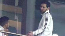 Messi se fue del palco en pleno partido