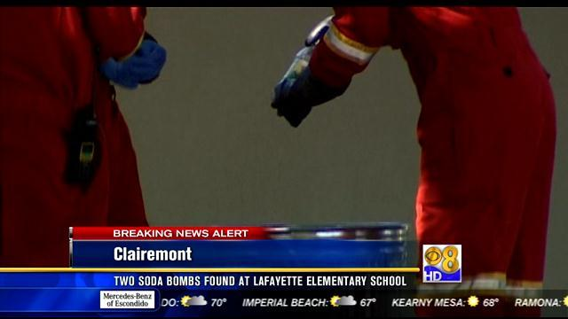Two soda bombs found at Lafayette Elementary School