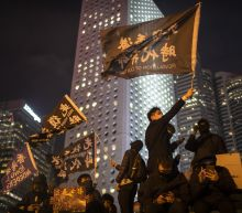 Hong Kong police slip on banana peel with tear gas tweet