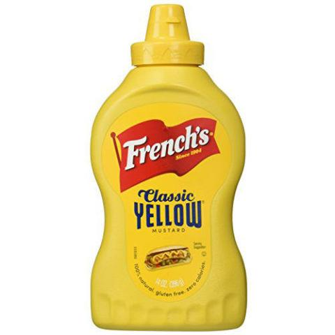 "<p><strong><em>$6, <a href=""http://www.amazon.com/Frenchs-Natural-Classic-Yellow-Mustard/dp/B00061EOP0/?tag=syndication-20"" rel=""nofollow noopener"" target=""_blank"" data-ylk=""slk:amazon.com"" class=""link rapid-noclick-resp"">amazon.com</a> </em></strong></p><p>Another pantry staple, French's Classic Yellow has been around since 1904 and continues to be a solid go-to option for ballpark-style hot dogs. </p>"