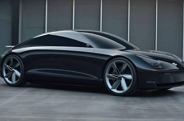 Hyundai's slippery Prophecy concept EV is controlled by joysticks