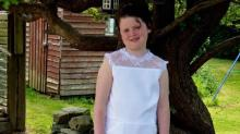 Little Girl Who Rejected a Communion Dress Designs Her Own Romper