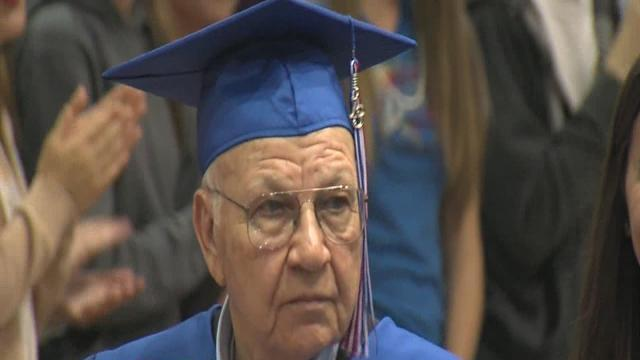 WWII vet receives high school diploma
