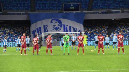 El Viejo Continente rinde homenaje a Maradona