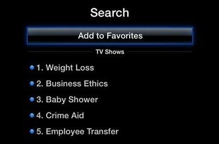 aTV Flash 2.1 (black) offers very specific favorites, TV shows in playlists