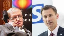 Jeremy Hunt tells Professor Stephen Hawking: You're wrong about scientific research behind NHS reform