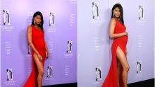 Chanel Iman, una sexy premamá en los Fragrance Foundation Awards