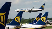 Child, 10, hit with bottle after two 'hammered' stag dos brawled on Ryanair flight