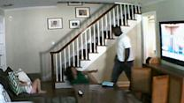 Nanny Cam Shows Intruder Beating Woman