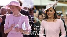 將皇室時尚氣質帶到更高層次!15 張街拍看 Kate Middleton 如何以現代時裝,演繹多個戴妃造型!