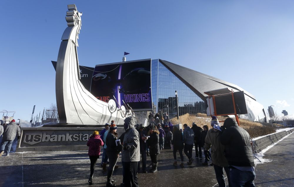 U.S. Bank Stadium will host Super Bowl LII in February. (AP)