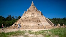 World's tallest sandcastle built in Germany and scales more than 17 metres