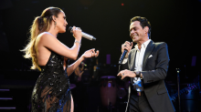 Graciositos Marc Anthony y Jennifer Lopez en el estudio